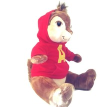 "Alvin the Chipmunk Build-a-Bear 16"" Plush Toy Red Hoodie THE SQUEAKQUEL ... - $21.24"
