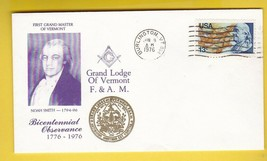 NOAH SMITH FIRST GRAND MASTER BICENTENNIAL MASONIC BURLINGTON VT JUN 6 1... - $1.98