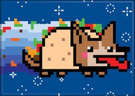 Nyan Cat Poptart Cat Dog Image Refrigerator Magnet, NEW UNUSED - $3.99