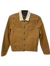 Arizona Jean Co men's jacket button front pockets camel long sleeve size... - $35.62