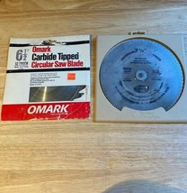 "Vintage  Omark Carbide Tipped  Blade 6 1/2"" + a BoNUS blade 2 For 1. 12 TPI - $13.37"