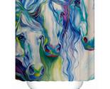 In bathroom curtain colored horse eco friendly fabric shower curtain accept custom thumb155 crop