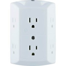 GE - Grounded 6-Outlet Tap - White - $11.34