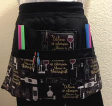 6 Pocket Waist Apron / Wine Bottles - $19.95