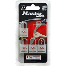 4 in a pack - Master Lock  7/8 in. width w/Keys airport airplane bags luggage - $11.85