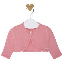 Mayoral Baby Girl 0M-12M Scallop Contour Knit Cardigan Sweater