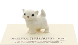 Hagen-Renaker Miniature Ceramic Cat Figurine Tiny White Persian Kitten