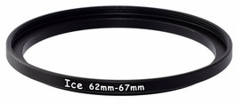 ICE 62mm to 67mm Step Up Ring Filter/Lens Adapter 62 Male 67 Female - $5.89