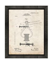 Outside Calipers Patent Print Old Look with Beveled Wood Frame - $24.95+