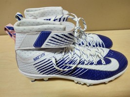 Nike Mens Lunarbeast Elite White Blue Football Cleats NikeSkin 847588-40... - $28.50
