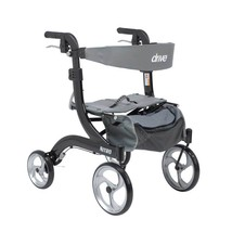Drive Medical Nitro Euro Style Rollator Hemi Height Black - $242.56