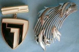 Two Vintage Signed Modern Trifari Pins - $15.00