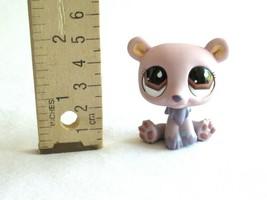 An item in the Toys & Hobbies category: Littlest Pet Shop LPS 677 Polar Bear Mauve Purple Teardrop Brown Eyes Sitting