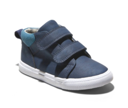Cat & Jack Boys Toddlers Navy Harrison Hook And Loop Mid Top Shoes NWT