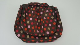GAP KIDS Pink Brown Polka Dot Lunch Bag for clip on to Backpack (not inc... - $7.84
