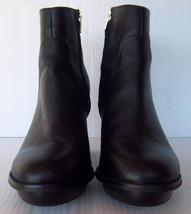 "Women's Steve Madden ""Flight"" Black Leather Ankle Boots w/ Gold -- Size ... - $48.99"