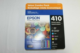 Epson Combo Pack 410 Ink Cartridges Pack of 5 New In Package FREE SHIPPING - $43.01