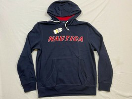 M167 NWT NAUTICA Hooded Hoodie Blue Sweatshirt Jacket MEN'S M Medium K9353T - $36.58