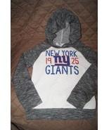 NFL New York Giants Girls Long Sleeve Lightweight Hooded Sweater Size S ... - $19.00