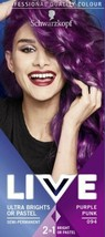 Schwarzkopf Live Semi Permanent Hair Dye Purple Punk 15 Washes Bright Or Pastel - $14.11
