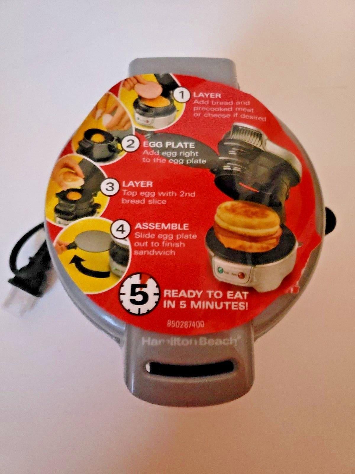 Original Hamilton Beach 25475A Breakfast Sandwich Maker