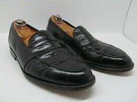 Saks Fifth Avenue Mens Black Genuine Crocodile And Leather Full Strap Lo... - $96.03