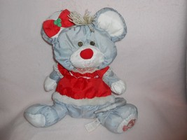 CUTE 1988 FP Fisher Price Puffalump Christmas Mouse in Red Dress 8034 - $11.69