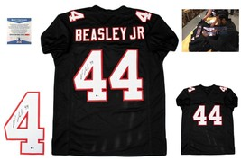Vic Beasley Autographed SIGNED Custom Jersey - Beckett Authenticated w/ Photo - $128.69