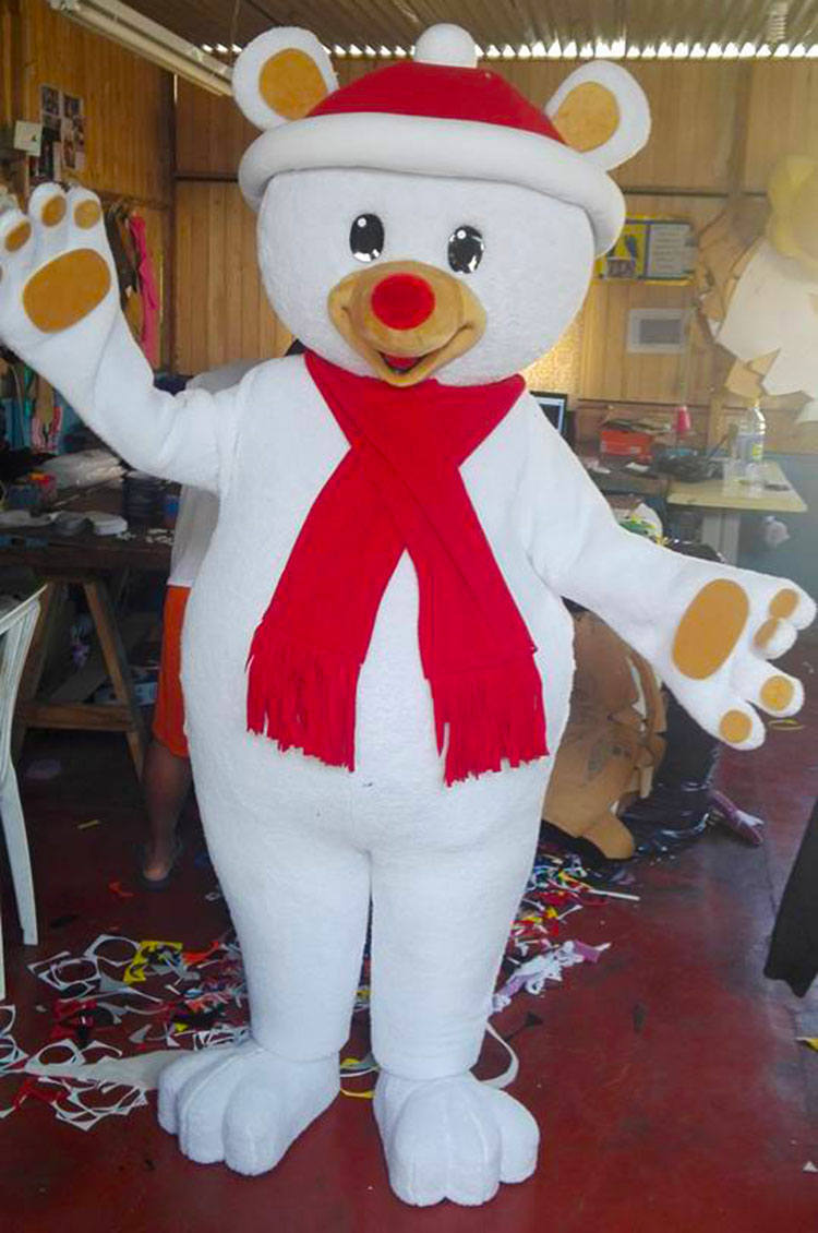 Chritmas Bear Mascot Costume Adult Chritmas Costume For Sale