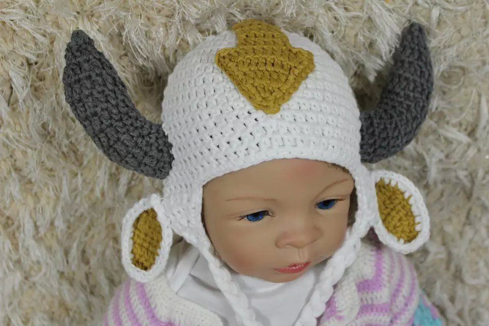 Knit Crochet Baby Child Kids Aang Appa Sky And Similar Items