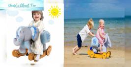 Labebe Child Rocking Horse Plush, Stuffed Animal Rocker Toy, 2 in 1 Blue... - $129.90