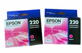 Lot Of 2 - New Epson Genuine 220 Magenta Ink Cartridge OEM C13T293320 - $14.42