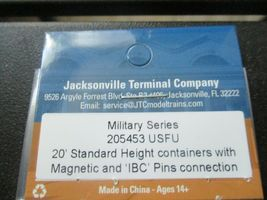 Jacksonville Terminal Company # 205453 USFU 20' Container Military Series (N) image 4
