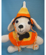 Pet Sets Dog Cat Ruffle Hat & Collar Fall Halloween Candy Corn Handmade ... - $18.00
