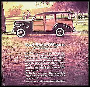 1976 Ford Original Station Wagon ORIGINAL Brochure