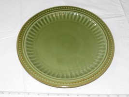 "Everyday Gibson Dinner Plate Dishwasher Microwave and Oven Safe Green 11"" ! - $29.69"