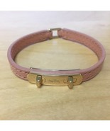 NWT COACH Popular Trend Cute Leather Swagger Bracelet Gold Pink Blush Metal - $37.62