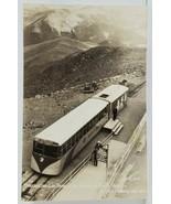 Streamline Cog Train at the Summit of Pikes Peak RPPC Postcard N17 - $12.95