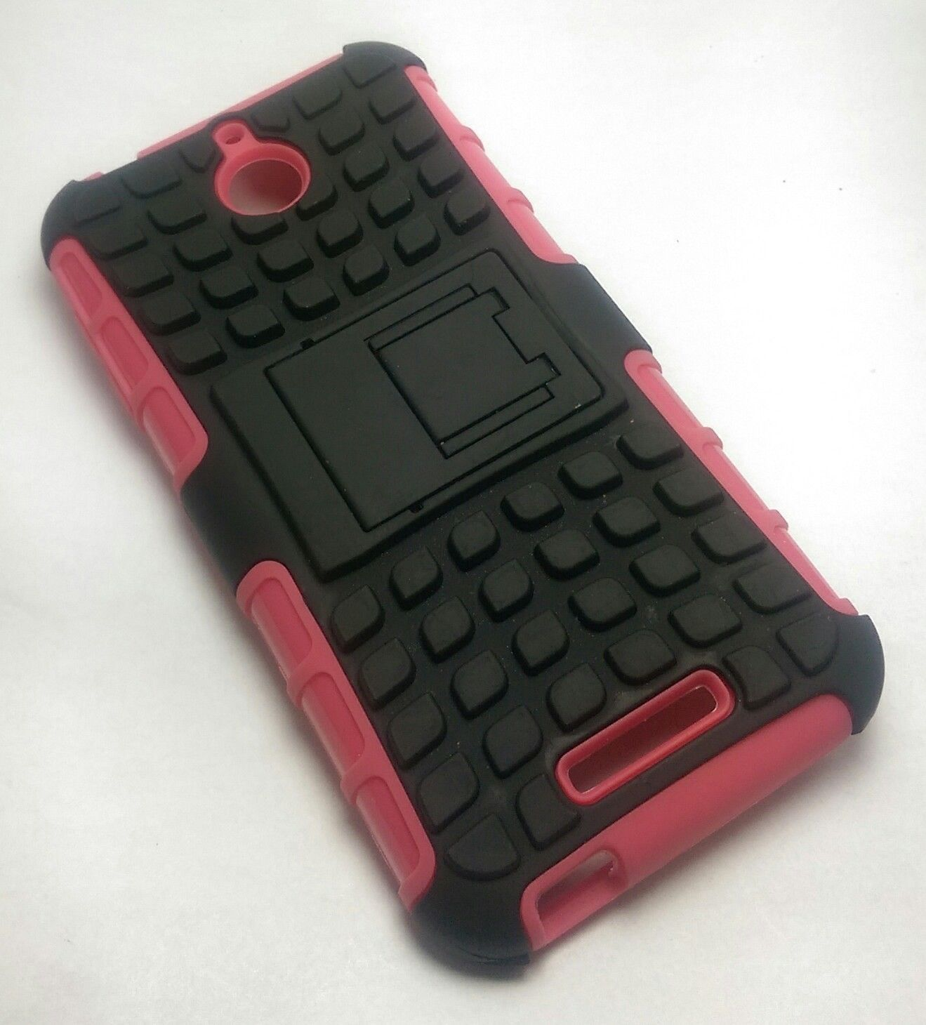 Pink/Black HTC Desire 510 512 Hard Dual Hybrid TPU Case Cover