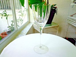 "Lenox Kate Spade New York Chambers Stripe Clear Crystal Wine Goblet 8 5/8"" - $30.00"