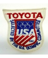 1980 Olympics Patch Selected by the U.S. Olympic Committee TOYOTA - $7.00