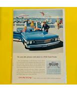 Vintage Ad Wide Track 1960 Pontiac Tempest Most Able Pleasure Craft Ashore  - $9.85