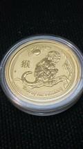 2016 1/10 oz Gold Year of The Monkey BU (In Capsule) Australia Perth Mint Lunar image 2