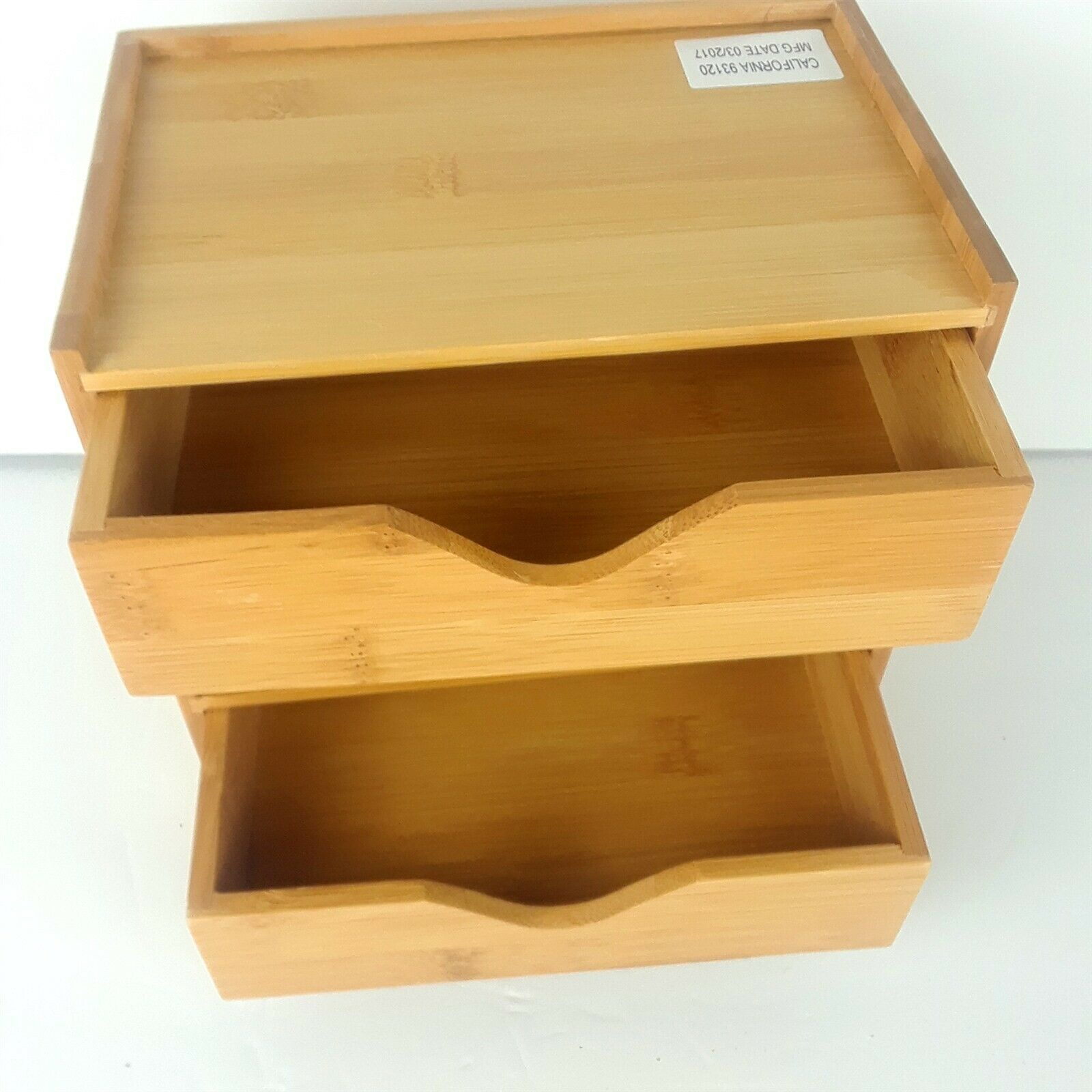 Lipper International Bamboo 4-Tier Desk Organizer, Brown