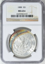 1888 Morgan Silver Dollar - NGC MS-63 Star - Mint State 63 Star  - $197.01