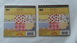 2 Mary Engelbreit Mary & Co Paper Pack Queen of Cup Cakes Soda Shop 12 S... - $9.89