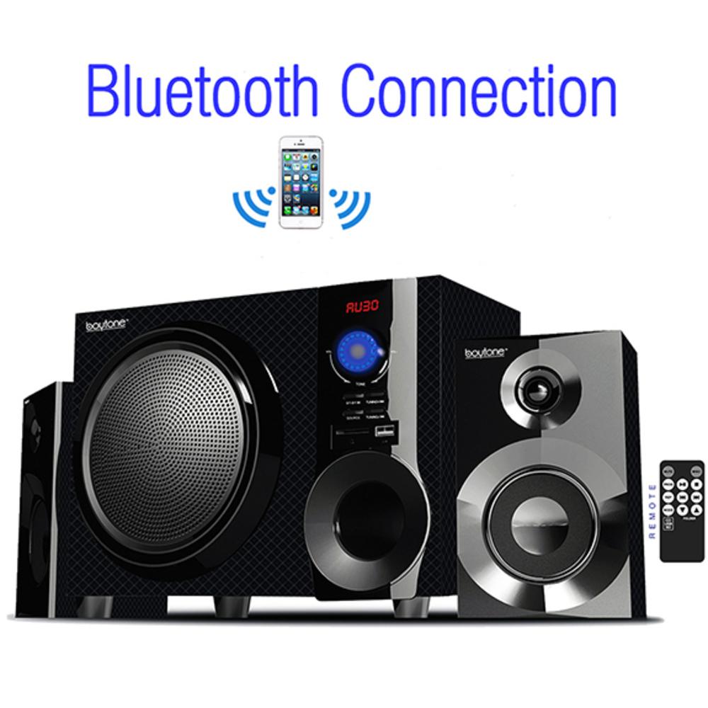 Boytone BT-215FD Wireless Bluetooth 30-Watt Speaker System with FM Radio