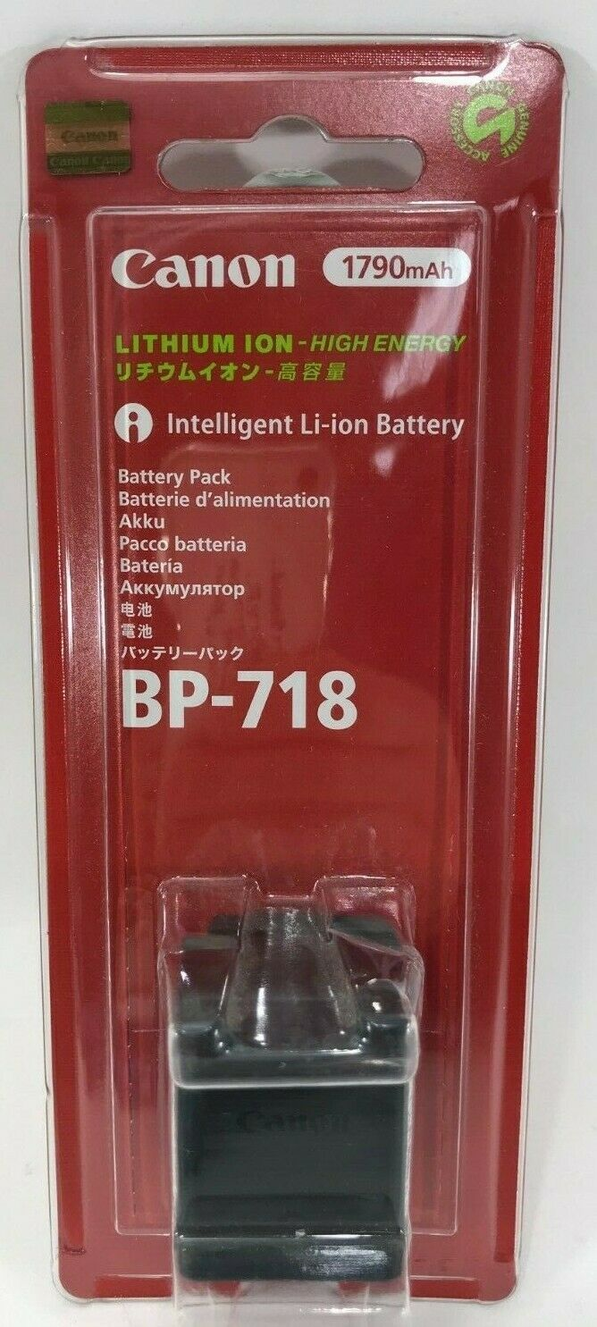 Canon - BP-718 - Rechargeable Lithium-ion Battery