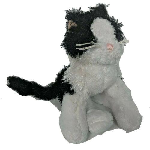 "Ganz Webkinz Lil Kinz Black White Cat Stuffed Animal HS016 No Code 9.5"" - $9.94"