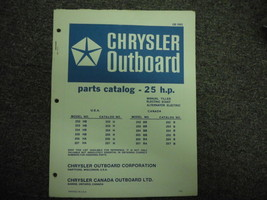 Chrysler Outboard 25 HP Parts Catalog - $24.74